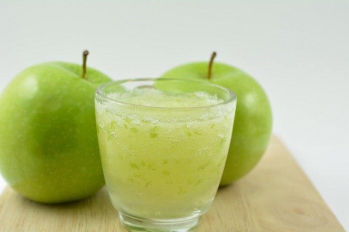 Limpieza y curación con zumo de manzana